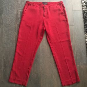 BR Red Crop Dress Pants